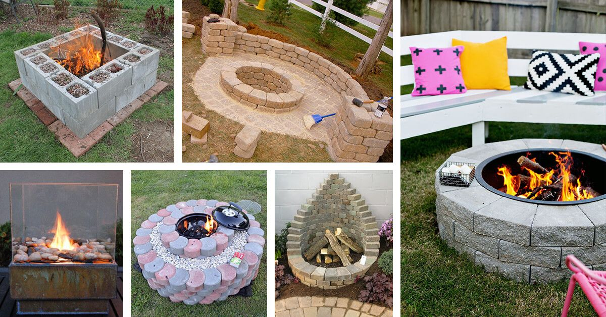 These Easy To Make Diy Firepit Ideas Are Here To Make Your Summer The Best One Ever Find The Best Projects And Make Y Diy Fire Pit Fire Pit Backyard Creations