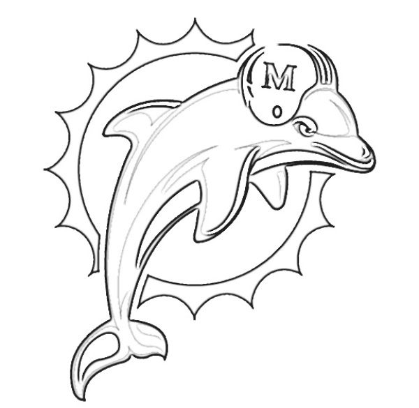 Miami Dolphins Helmet Coloring Pages With Images Dolphin