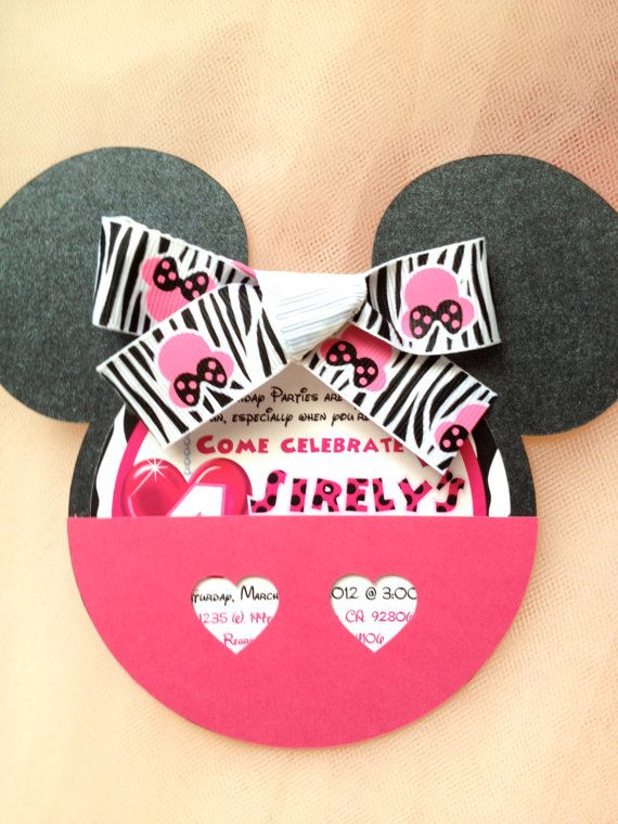 Minnie Mouse Birthday Invitation by OuttheBoxCreative on Etsy, $3.65