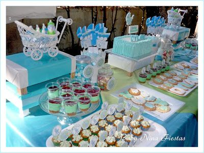 Mesa dulce baby shower ni o party planning pinterest for Mesa baby shower nino