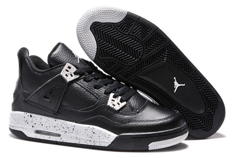 6c68a8b029b Nike Air Jordan 4 IV Retro Womens Shoes White Grey Black