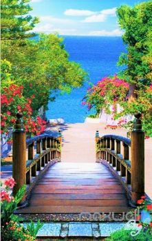 Solve WALKWAY TO PARADISE jigsaw puzzle online with 96 pieces
