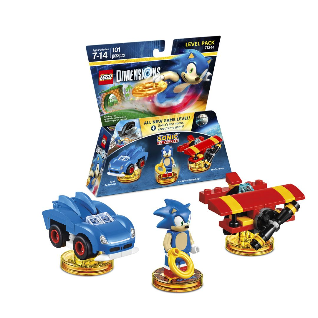 Lego Dimensions Sonic The Hedgehog Level Pack Sonic Sonic Speedster The Tornado And Sonic The Hedgehog Bonus Level Incl Lego Dimensions Lego Lego Creations