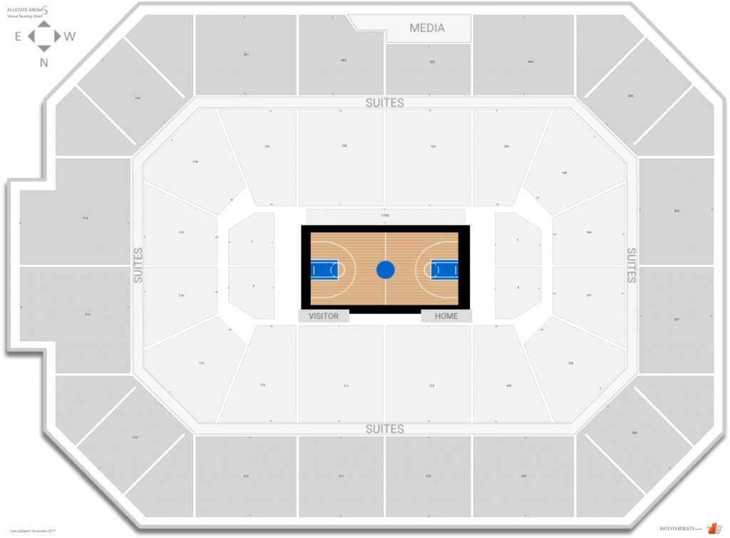 The Most Brilliant Allstate Arena Seating Chart With Rows