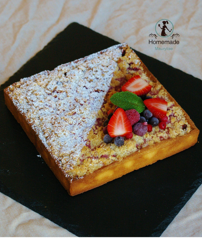 tarte crumble fruits rouges