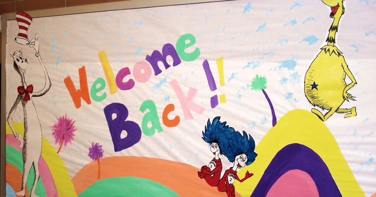 My ''Welcome Back' Bulletin Board-Suess Style!