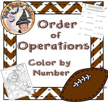 Order of Operations Color by Number Worksheet with Answer