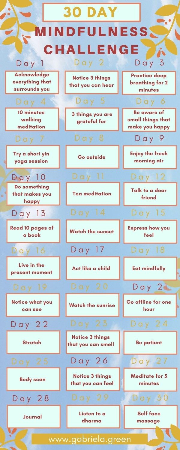 Become More Mindful - 30 Day Mindfulness Challenge | mindfullness ...