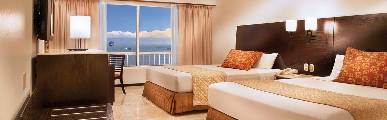 Habitaci n con 2 camas matrimoniales hotel azul ixtapa 5 - Camas matrimoniales ...