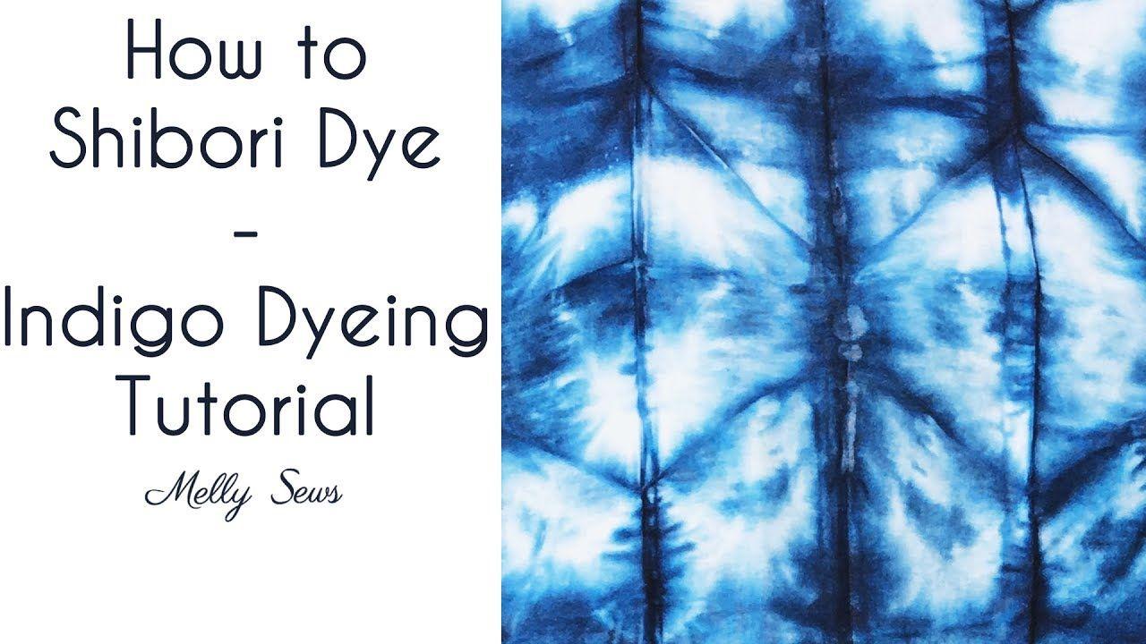 ruhafestés---How To Shibori Dye - Indigo Dyeing Tutorial #dyeingtutorials
