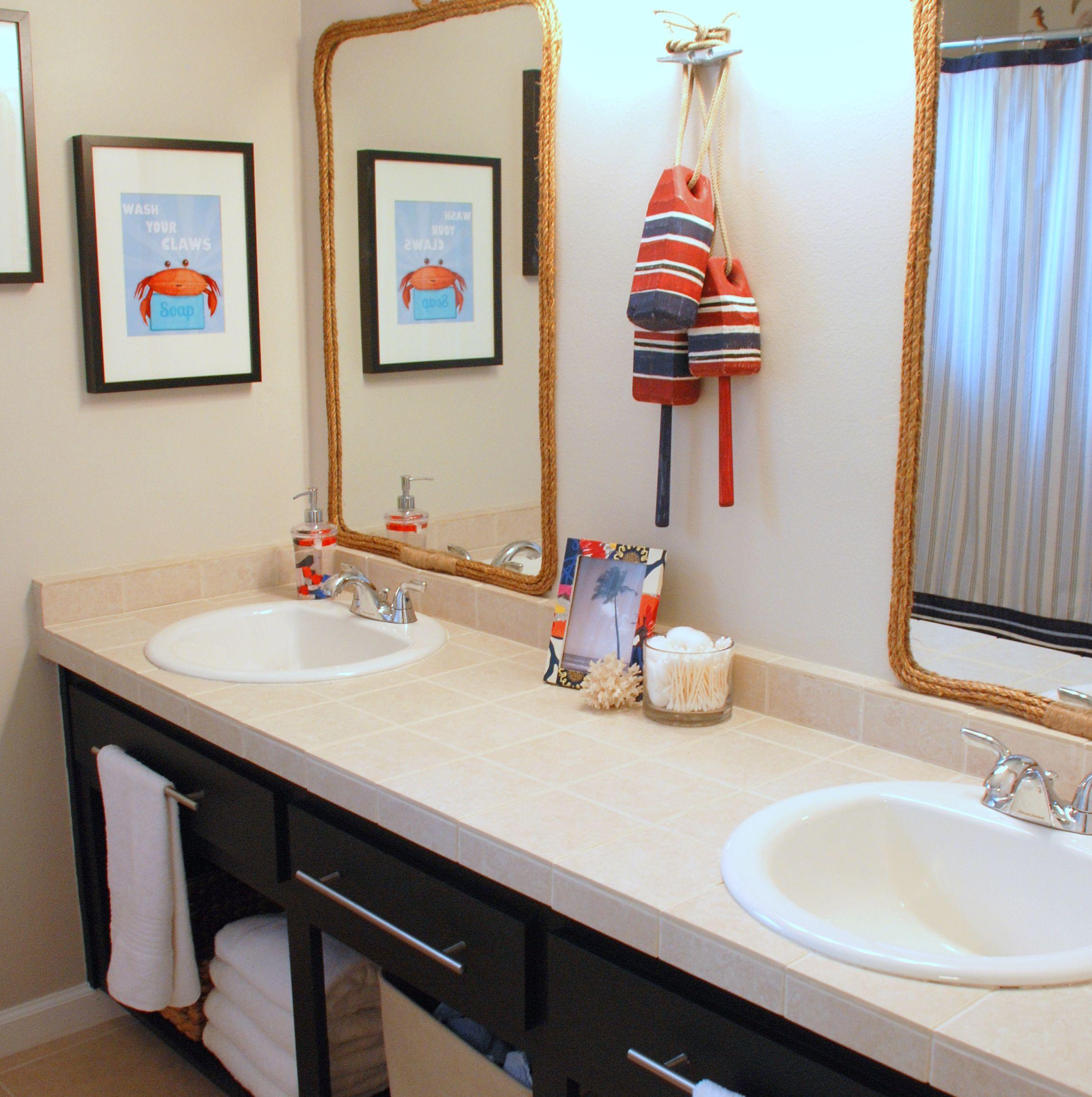 The Aspects For The Boys Bathroom Ideas Kindergartenmind Http Bathroomdesignsideas Org Nautical Bathroom Decor Kid Bathroom Decor Girl Bathroom Decor