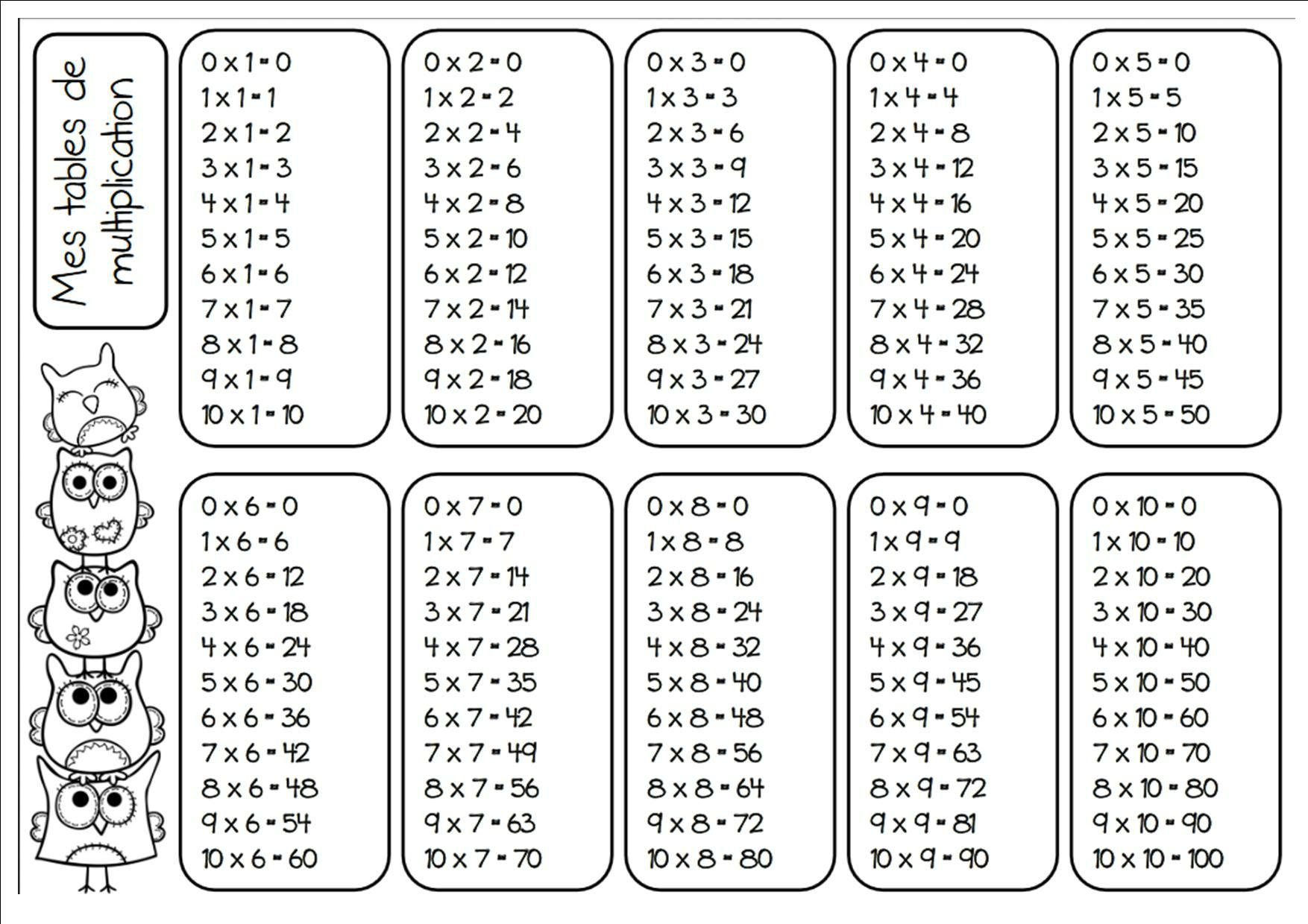 Formidable Tables De Multiplication En Ligne Exercices