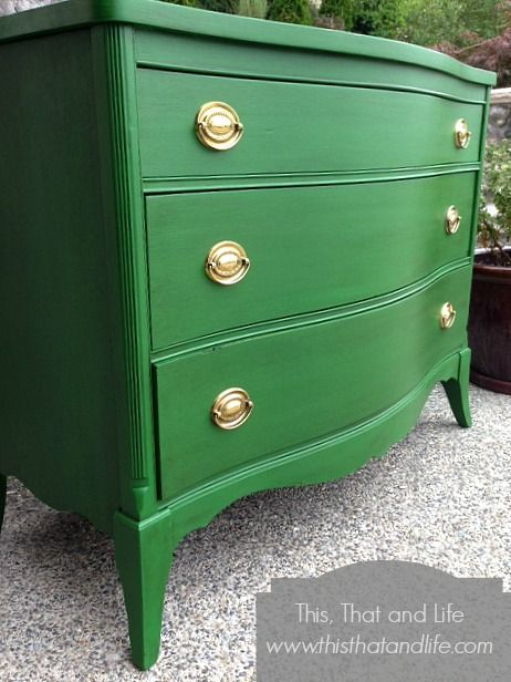 Dresser Painted With Clover Green By Benjamin Moore