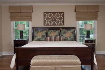 This Beautiful Master Bedroom Has Roman Shades To Add Symmetry Both Sides Of The Bed