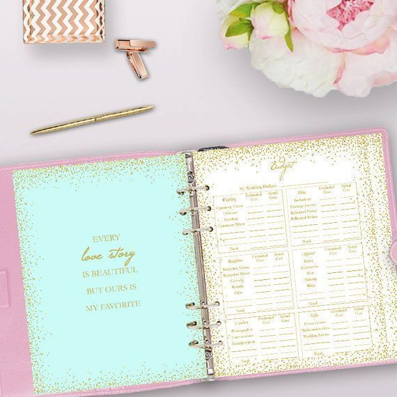 Wedding Planner Printable, Wedding Planning Checklist