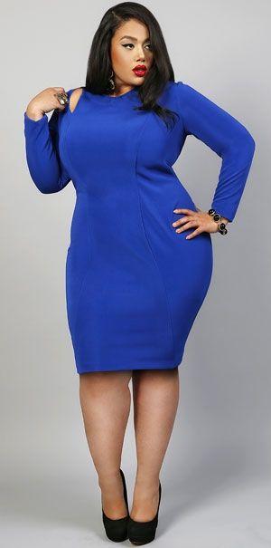 Imagenes de vestidos azules para gorditas