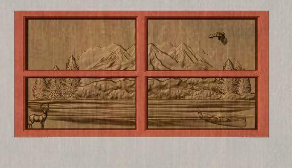 Rustic Cabin Decor Deer ~ Deer Cabin Decor ~ Wood Carving Wall Art ~ Wood Wall Art Decor