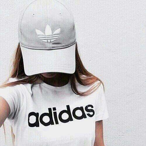 adidas, girl, and white image