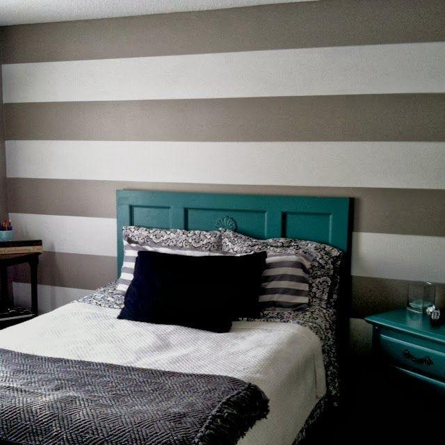 Idee per le pareti della camera da letto | Pareti a righe ...