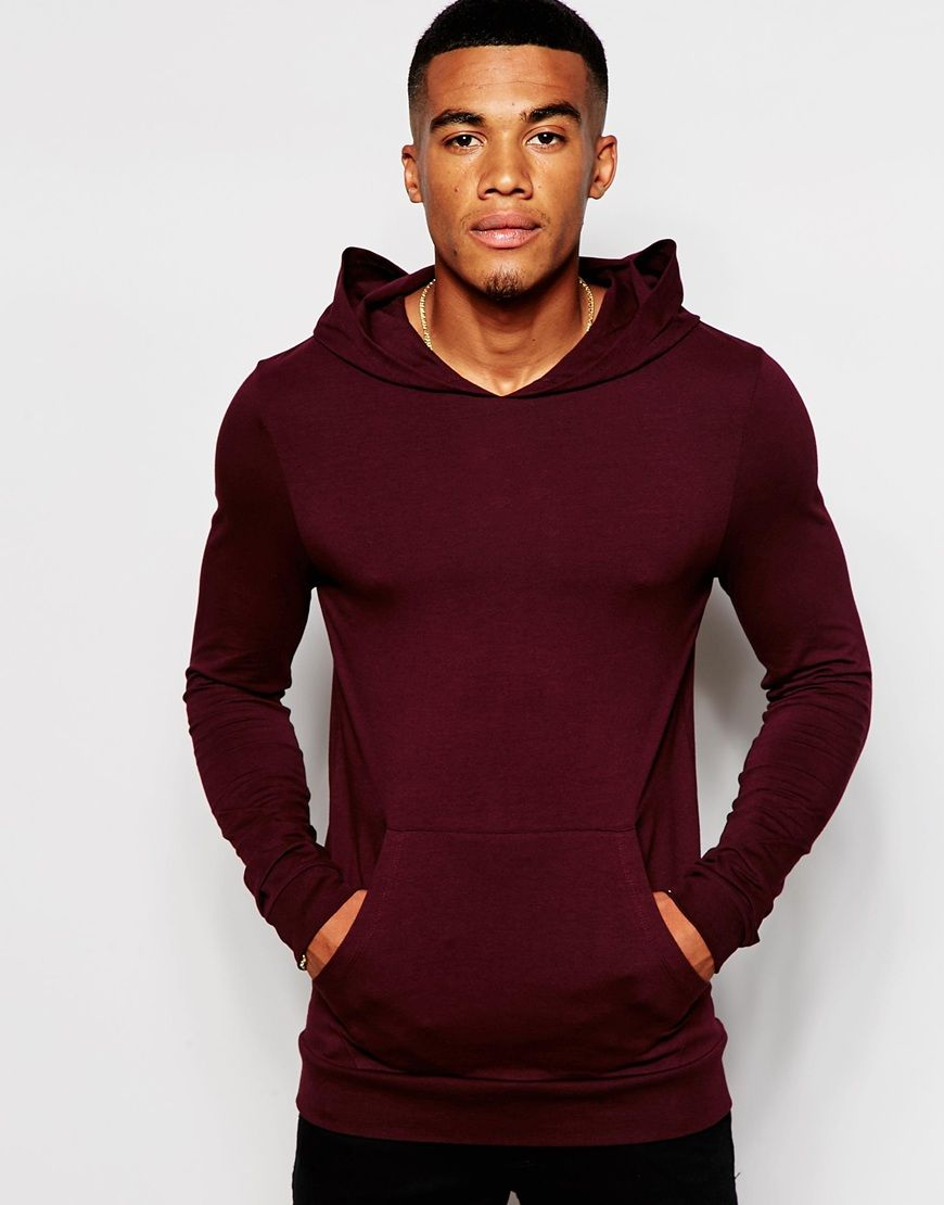 ASOS Extreme Muscle Fit Hoodie In Lightweight Stretch Jersey