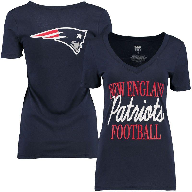 aea7a5403bf New England Patriots Women s Victory Play 2-Hit V-Neck T-Shirt - Navy