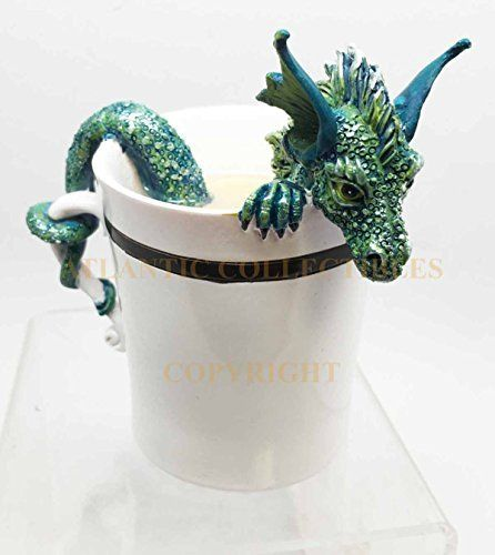 Amy Brown Sweet Addictions Good Morning Pet Dragon Coffee Sculpture Figurine