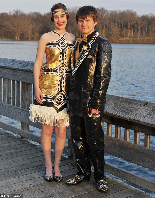 Now That S Heavy Duty Fashion Model Incredible Duck Tape Outfits In Annual Stuck