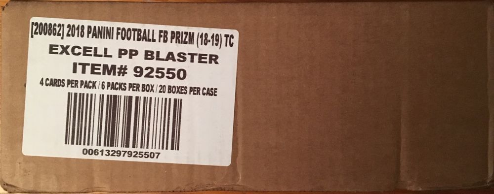 2018 panini prizm football sealed 20 blasterbox case