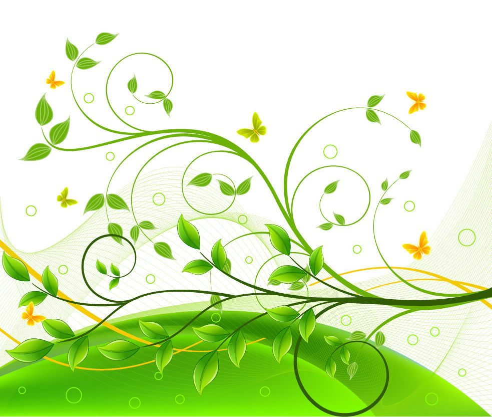 Graphic design backgrounds green floral background for Green design company