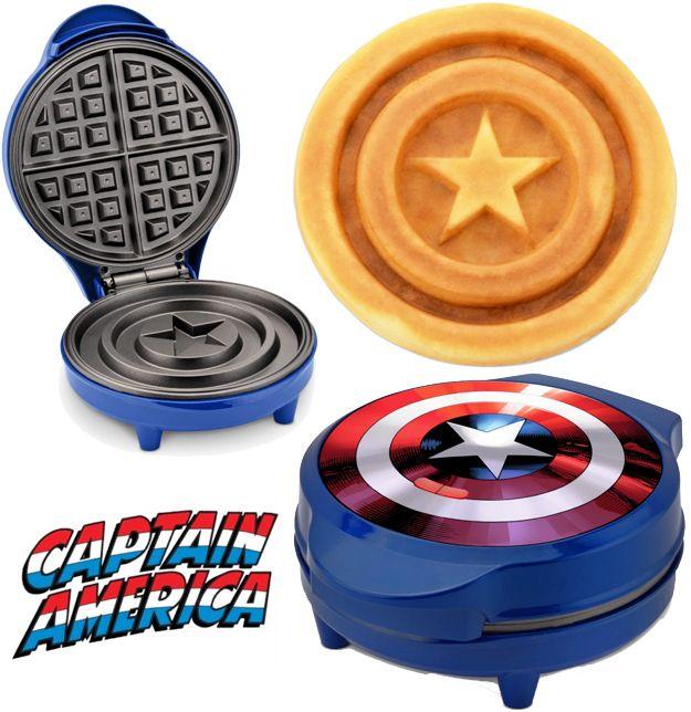 maquina de waffles captain america shield waffle maker marvel 01