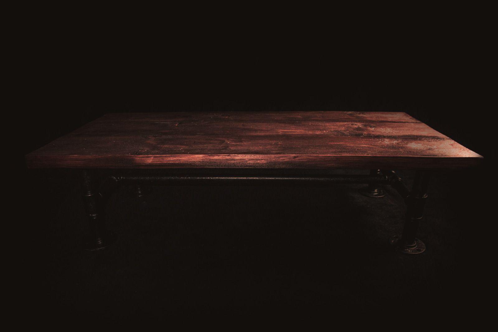 Salontisch Tombur Rohrwerk Salontisch Aus Massivem Holz Und