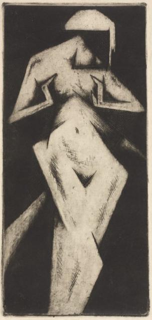 Jerzy Hulewicz (1886-1941), 1922, Natchnienie (Inspiration), Etching.
