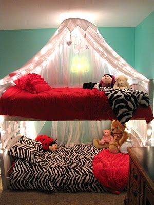 Project possible project girls lighted bed canopy bed - Canopy bed in small room ...