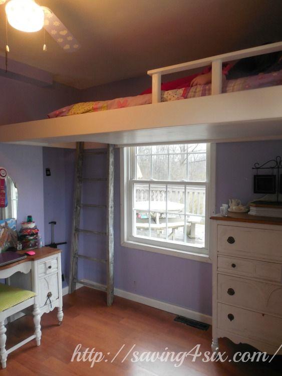 Diy Loft Bed Part - 49: Space Saving DIY Loft Bed   Saving 4 Six
