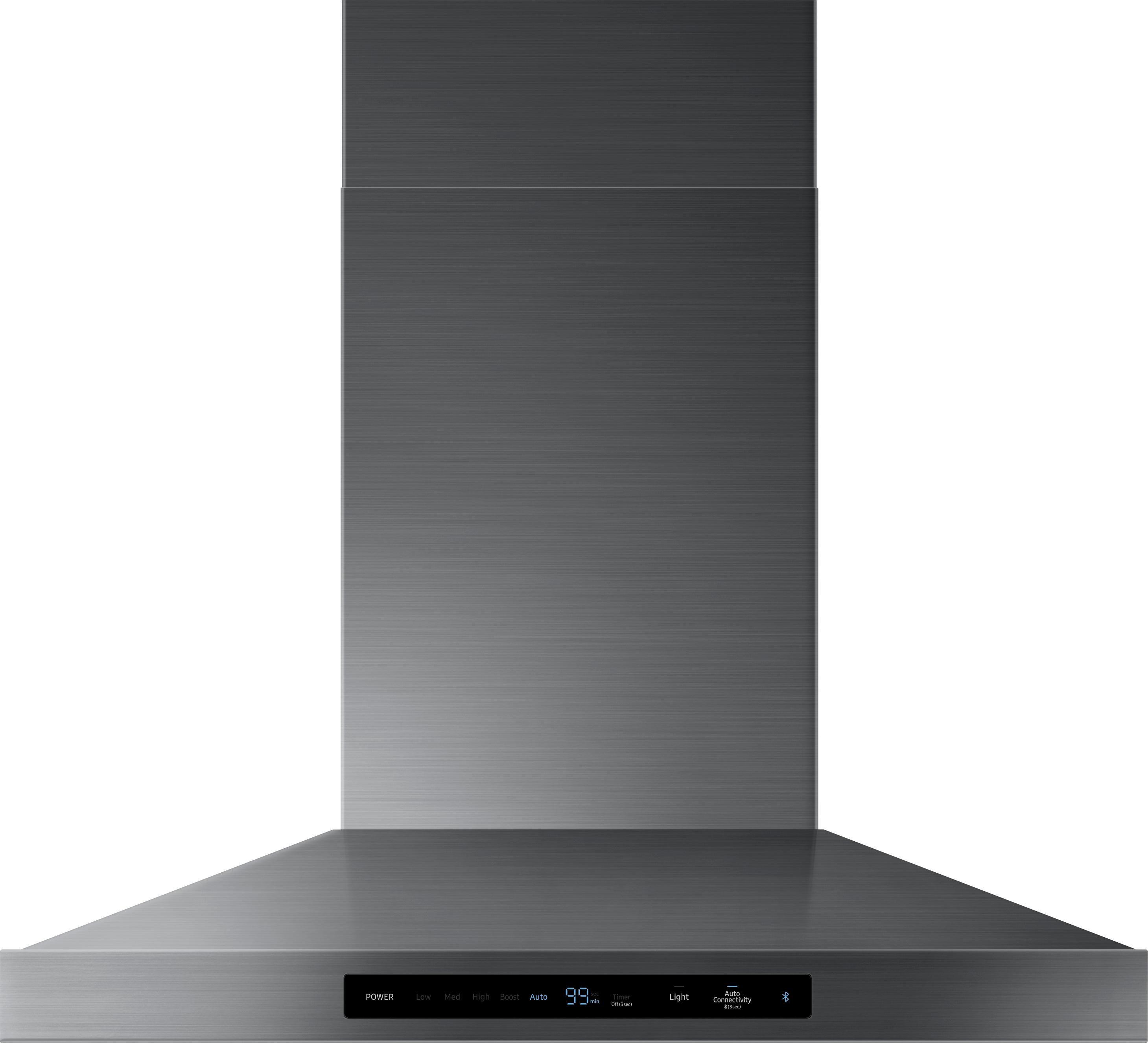 Samsung 30 In Convertible Fingerprint Resistant Black Stainless Steel Wall Mounted Range Hood Lowes Com Steel Wall Black Stainless Steel Kitchen Stainless Steel Range Hood