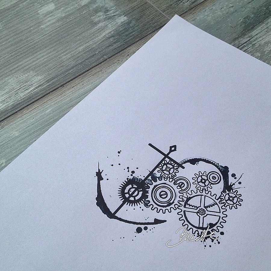 Anchor Abstract Tattoo Cogs Gears Gear Tattoo Abstract Tattoo Body Art Tattoos