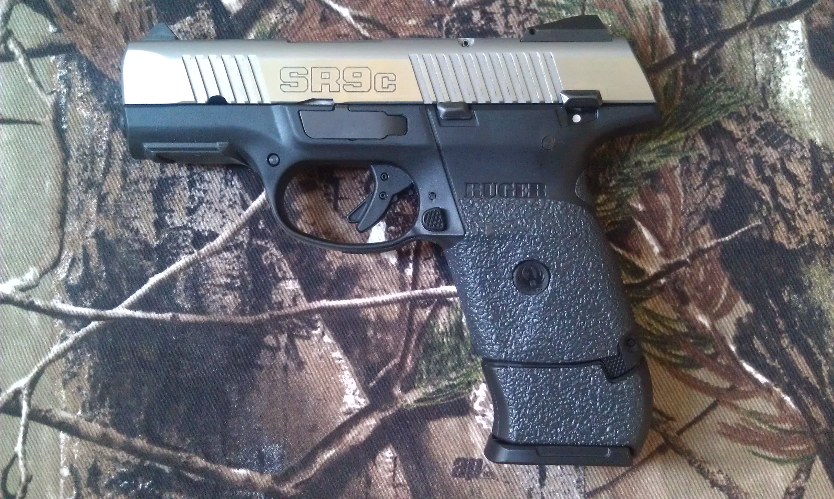 Ruger SR9C with traction grips  | Guns & self defense