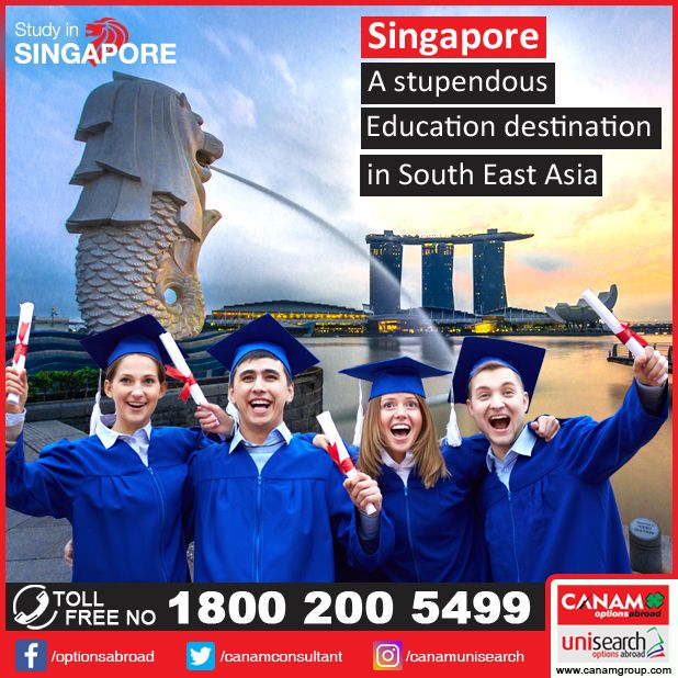 If #Singapore is your destination of dreams for your #OverseasEducation, let #CanamConsultants help you make those dreams come true! Meet our representatives in more than 20 locations all across India and avail expert help for your StudyAbroad goals! #StudentVisaGuidance.