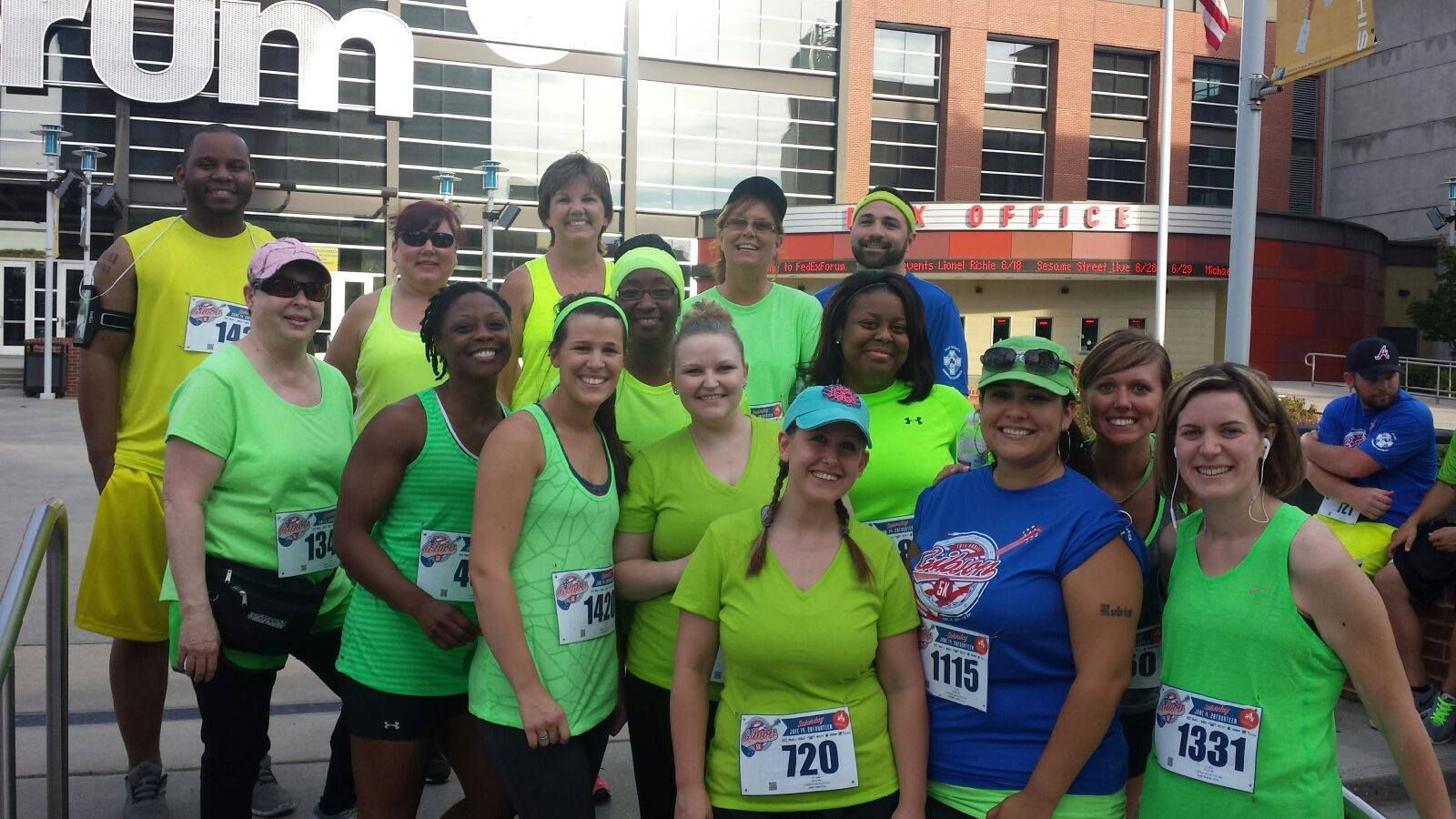 30 employees from First South participated in the 2014 Gibson Guitar 5K race in downtown Memphis. We're dedicated to reaching a healthier lifestyle together!
