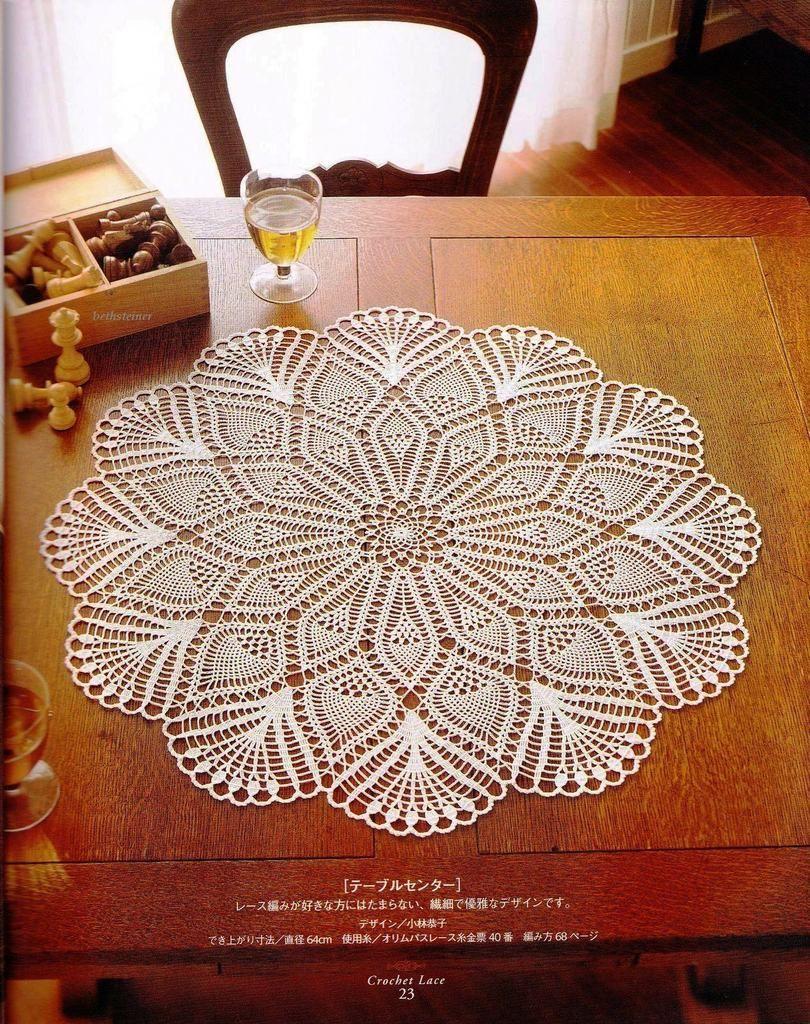 Crochet Lace Doily   ✂ Crochet - Lace Doilies & Tablecloths ...