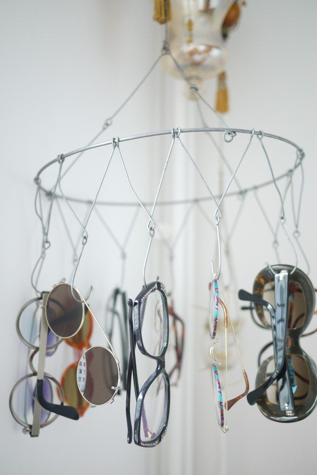 Make a wire mobile to hang and display your reading glasses #DIY Tips by VisAcuity.com