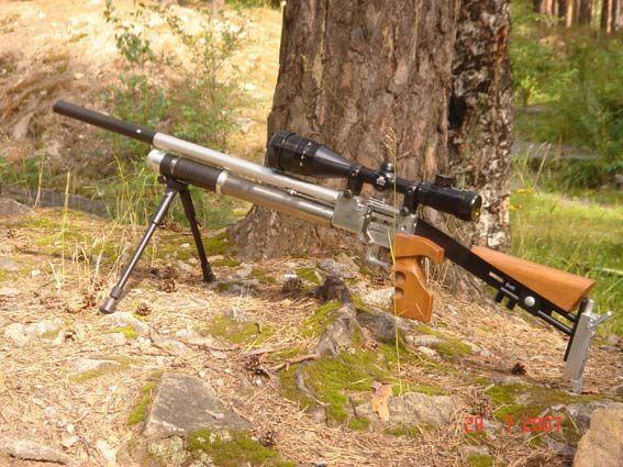 russian custom made airguns semi automatic air rifle built by