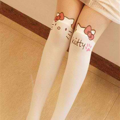 9bd28a543 Harajuku Kitty Stockings | Kawaii, Harajuku, Lolita Fashion | Hello ...