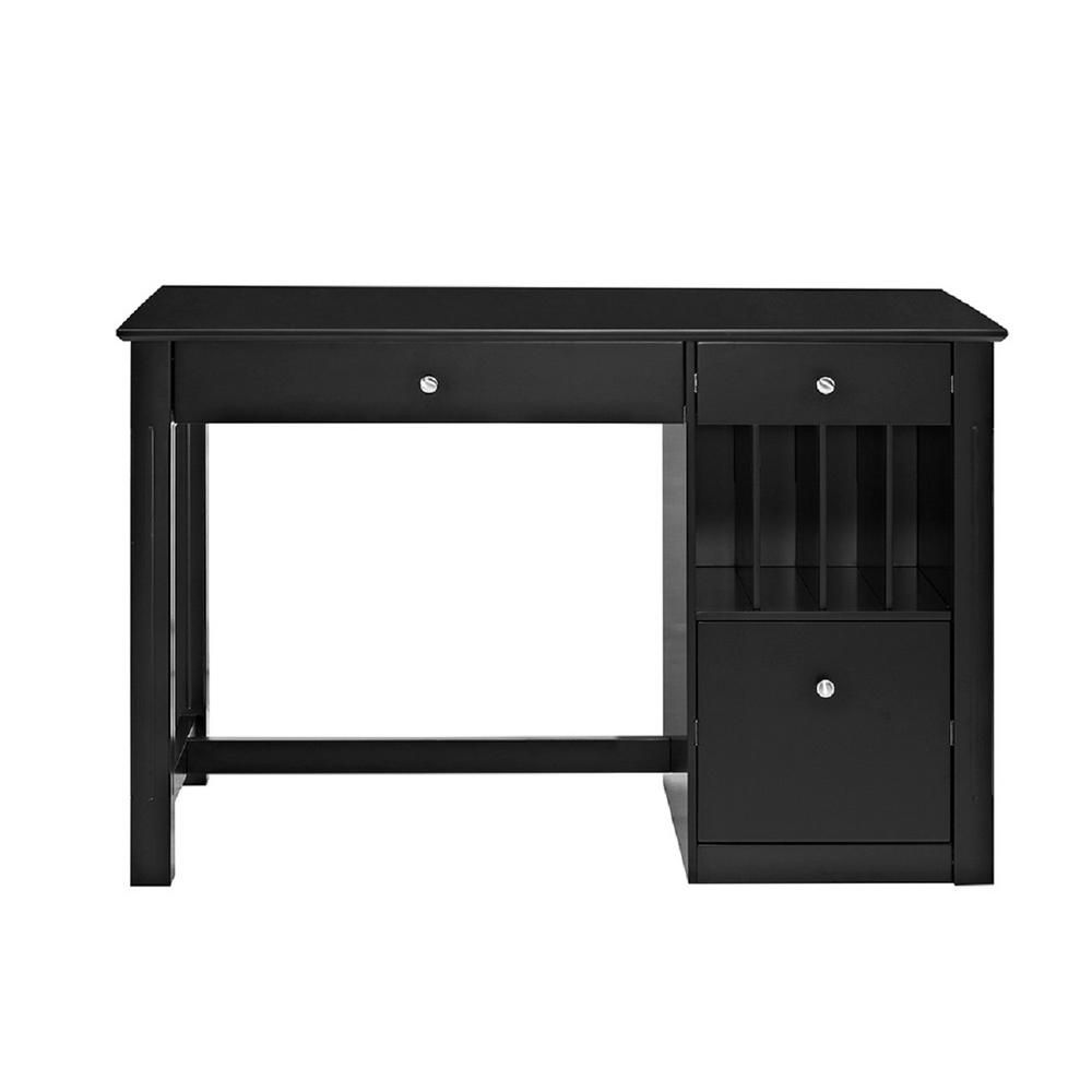 Walker Edison Furniture Company Home Office Deluxe Black
