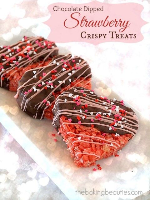 Chocolate Dipped Strawberry Crispy Treats Recipe Chocolate