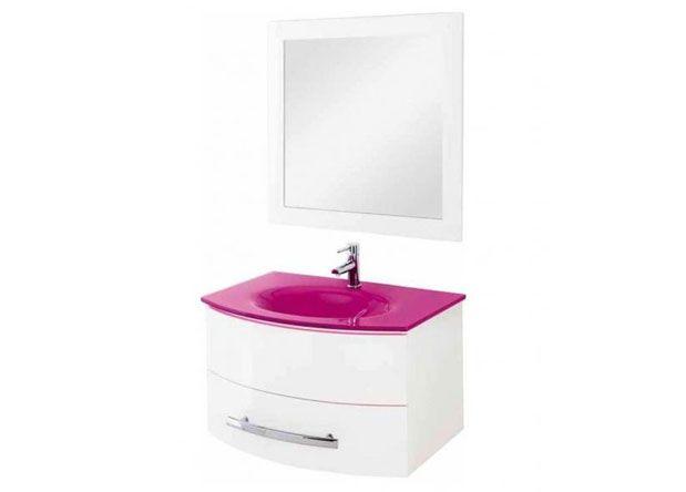 Offerta arredo bagno composizione sospesa rosa roma pratiko
