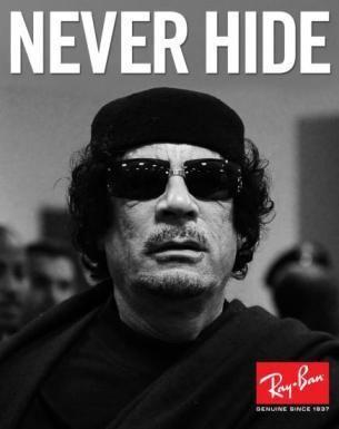 Ray-Ban. Gheddafi.