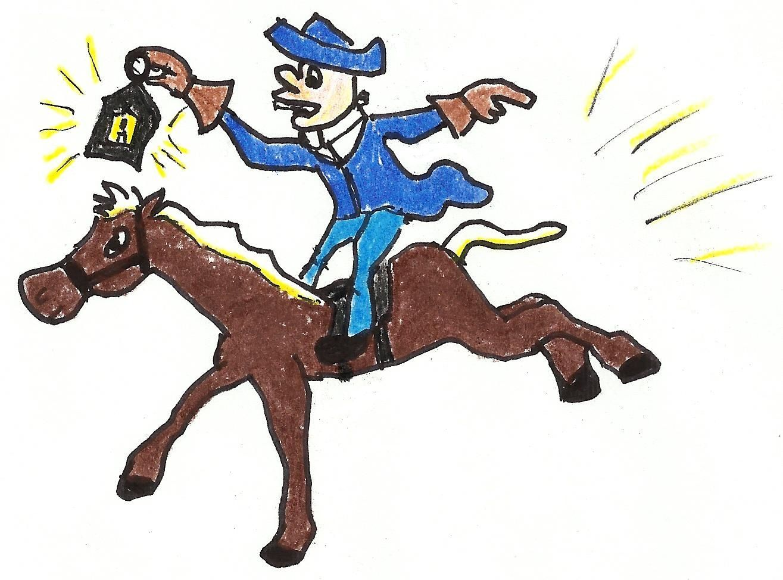 Paul Revere Midnight Ride Clipart