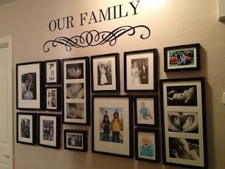 Wall Photo Ideas here%u2019s my finished photo wall collage! | wall decor