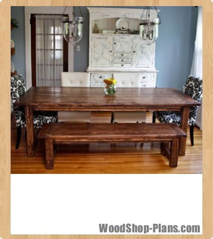 Farmhouse Bench Woodworking Plans Dining Table